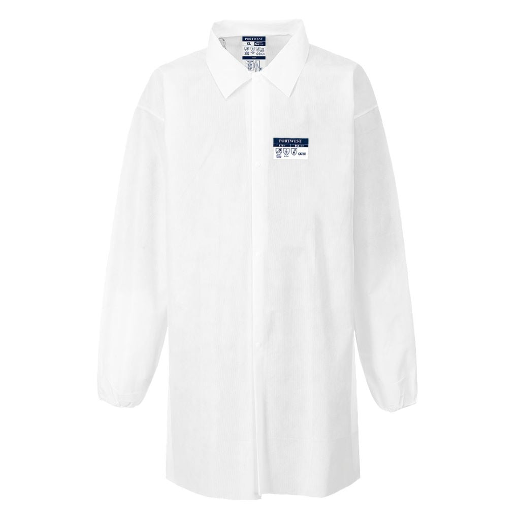 Lab Coat SMS 55g (50pcs) ST31 White