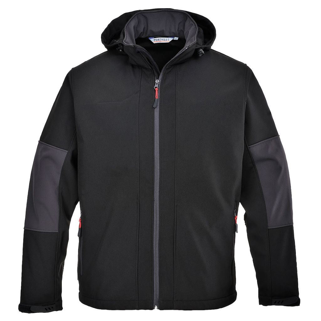 Softshell with Hood TK53 Black
