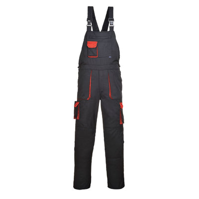 Contrast Bib & Brace TX12 BlackRed