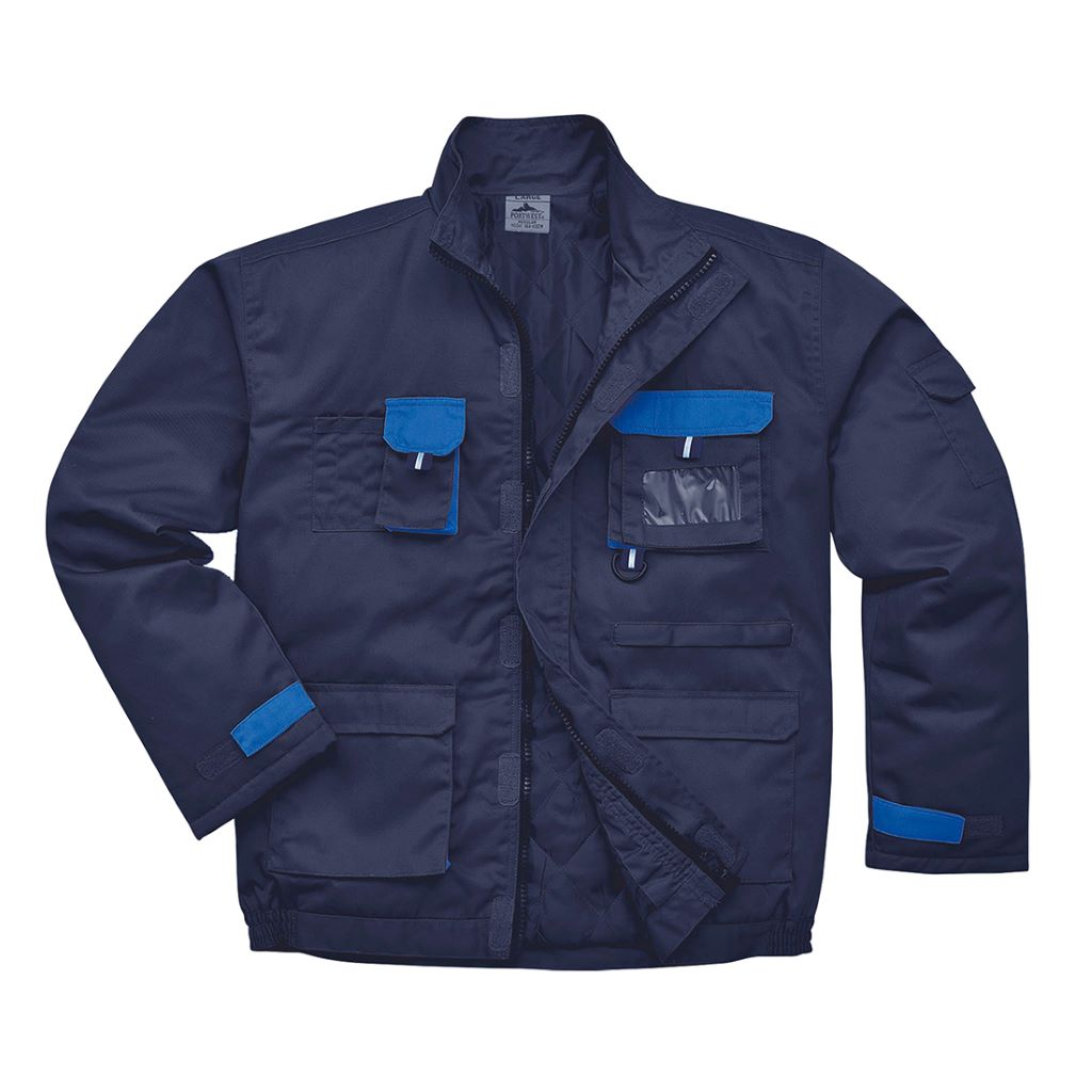 Contrast Lined Jacket TX18 Navy