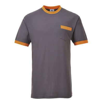 Contrast T-Shirt TX22 Grey