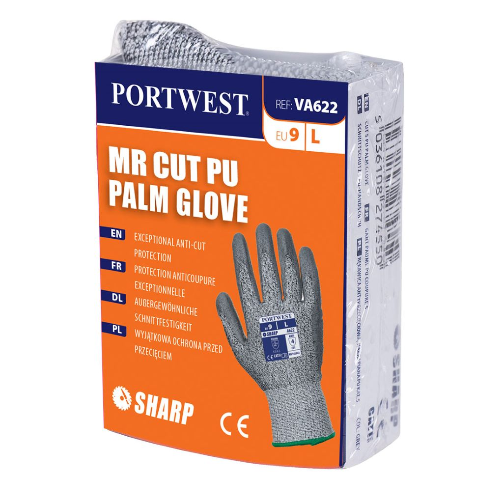 MR Cut PU Palm Glove VA622 GreyGrey