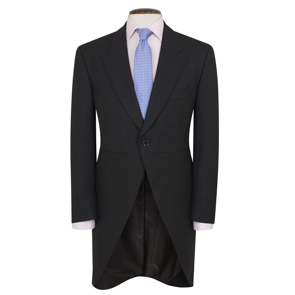 Tailcoat Black Herringbone