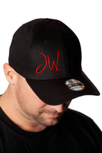 Load image into Gallery viewer, JW Flexfit Black  6-Panel Cap