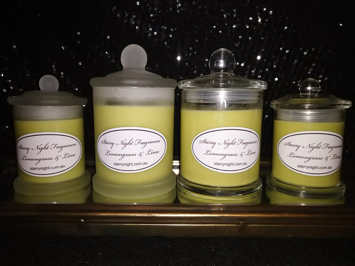 Lemongrass and Lime Fragranced Soy Candle