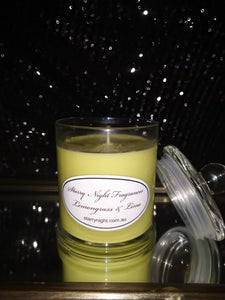 Lemongrass and Lime Scented Soy Candle