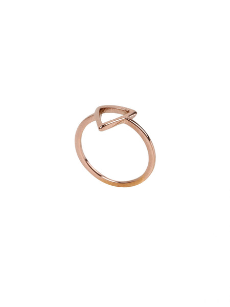 Delta Ring - Rose Gold