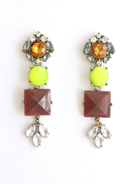 Plum Rowntree Drop Earrings