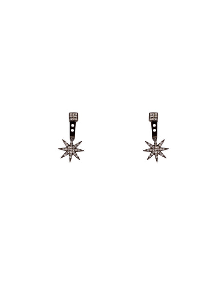 Starburst Ear Jackets - Gunmetal