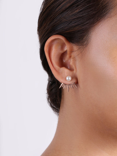 Eye Lash Ear Jacket - Rose Gold