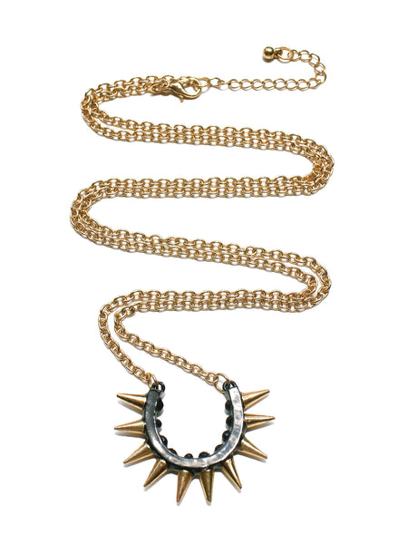 Chien Spike Pendant Necklace - Black
