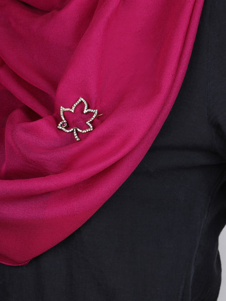 Maple Leaf Brooch - Red