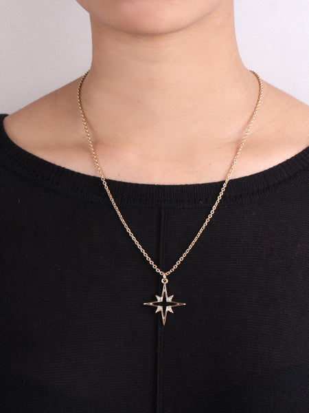 Northern Star Pendant Necklace - Gold