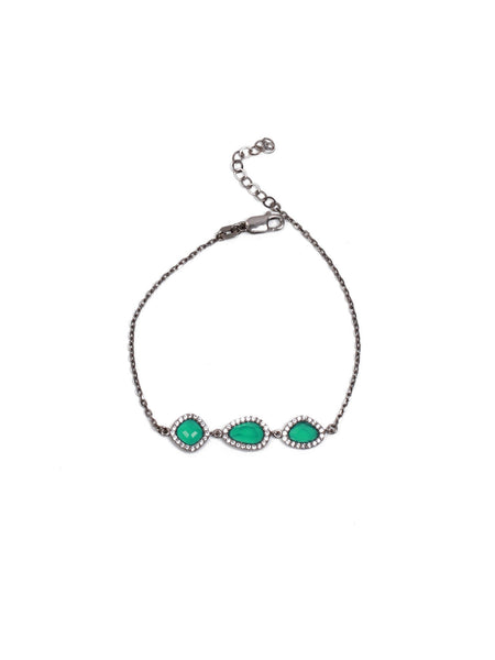 Demet Drop Bracelet - Green