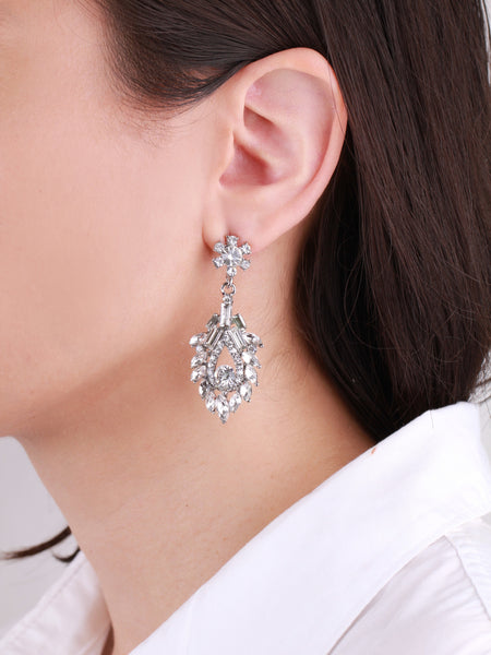 Kajol Chandelier Earrings - Clear