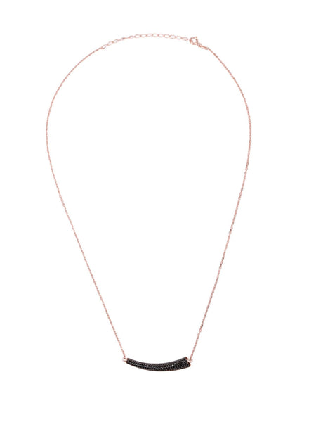 Kenya Horn Pendant - Black and Rose Gold