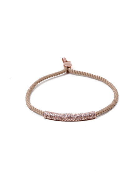 Yagmur Rope Bracelet - Nude and Rose Gold