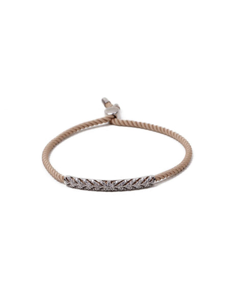 Ayse Rope Bracelet - Nude and Silver