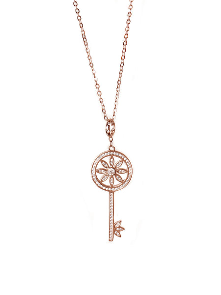 Love Locked Necklace - Rose Gold
