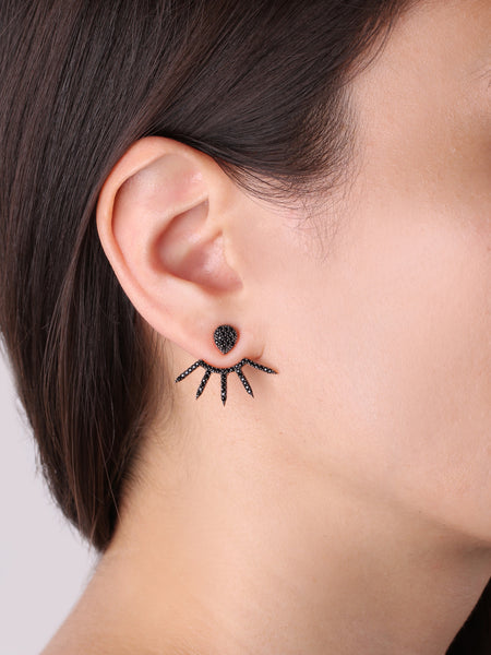 Sundial Ear Jackets - Black