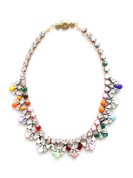 Tiana Crystal Necklace - Multicoloured