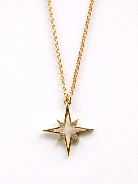 Northern star pendant necklace gold dipped row mozeypictures Image collections