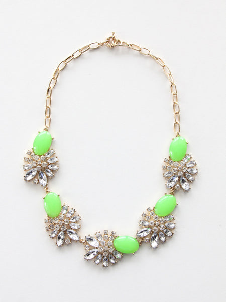 Summer Bloom Necklace - Green