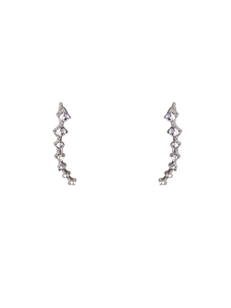Crystal Arc Ear Crawlers - Silver
