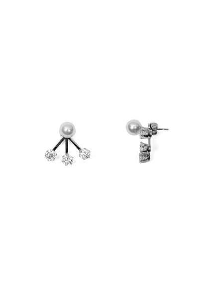 Serena Ear Jackets - Silver