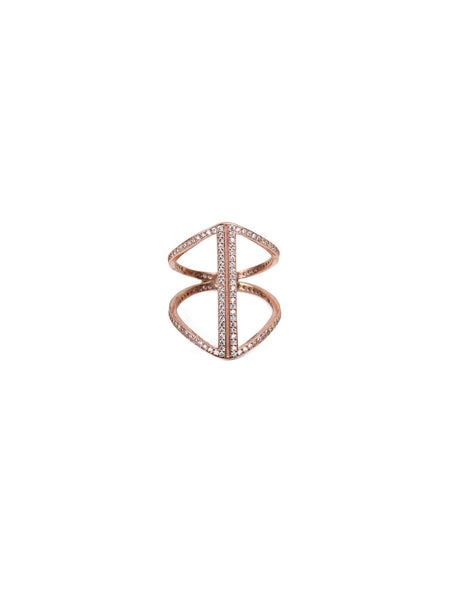 Crystal Carmen Ring - Rose Gold