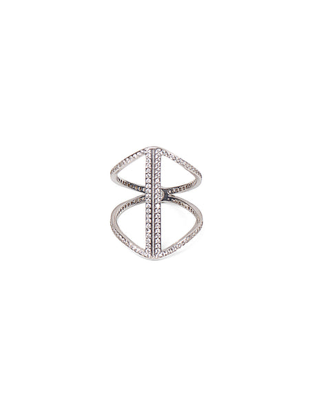 Crystal Carmen Ring - Silver