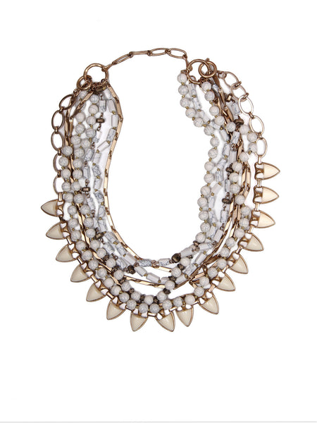 Carolyn Convertible Necklace - Cream