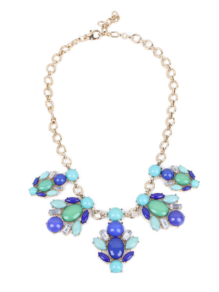 Marissa Necklace - Green And Blue