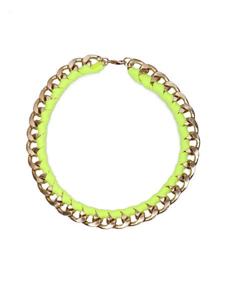 Chain Rope Necklace - Yellow