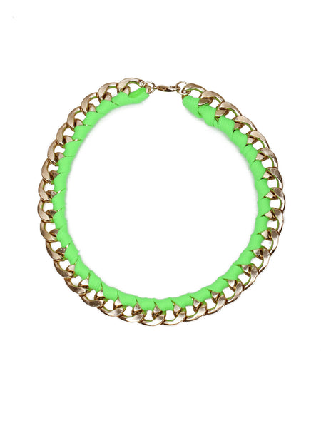 Chain Rope Necklace - Green