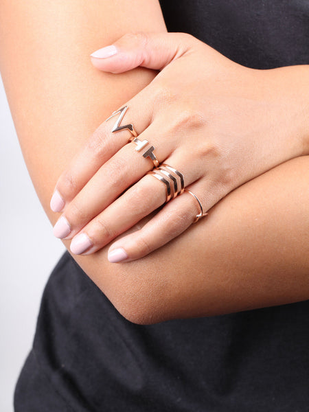 Heartbeat Ring - Rose Gold