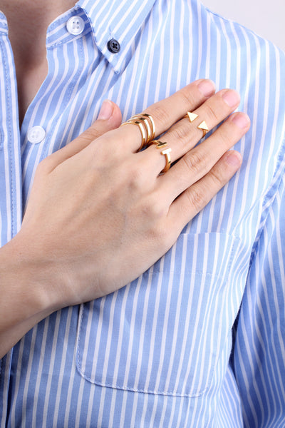 T Bar Ring - Gold
