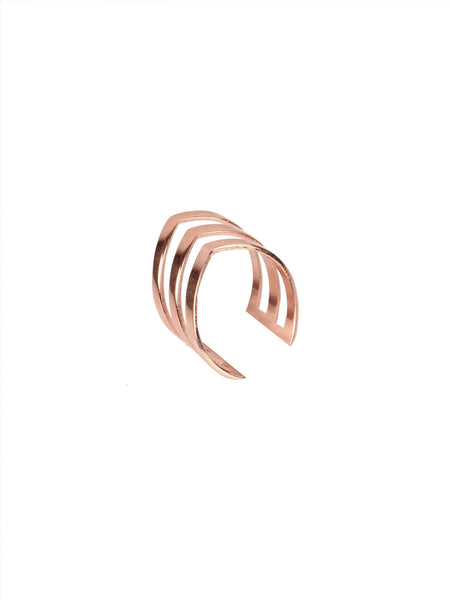 Slant Ring - Rose Gold