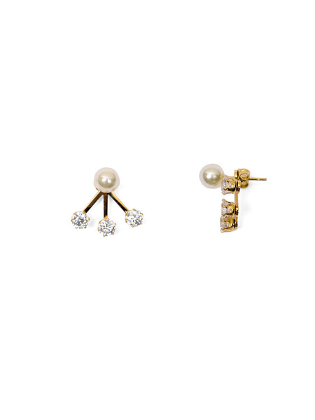 Serena Ear Jackets - Gold