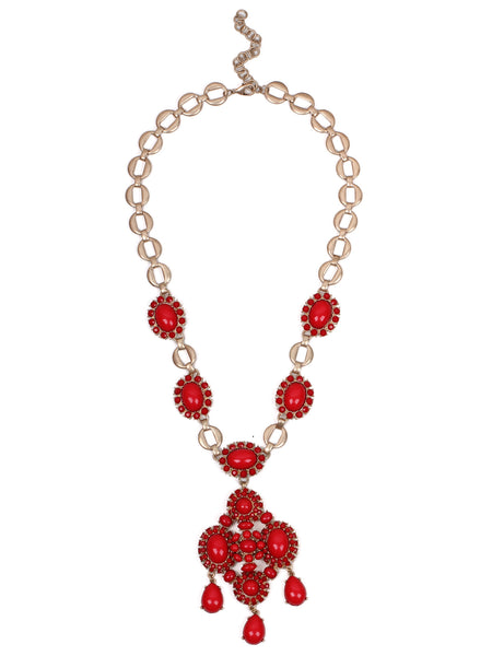 Ellie Necklace - Red