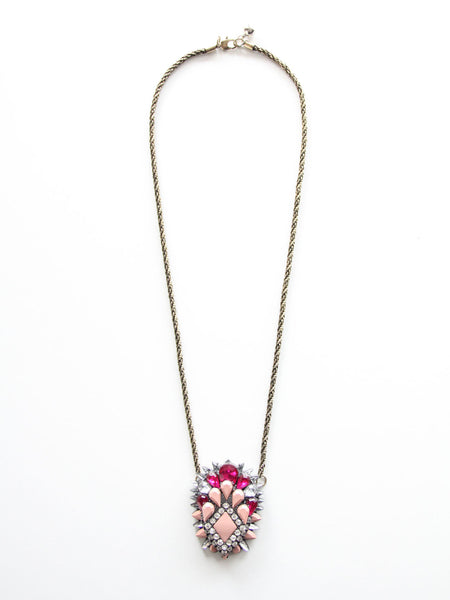 Gwen Pendant Necklace - Pink