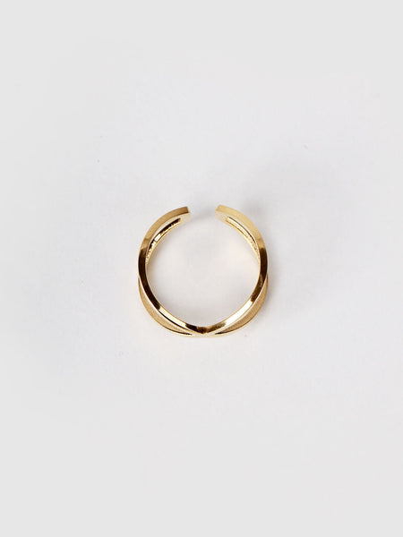 Kriss Kross Ring - Gold