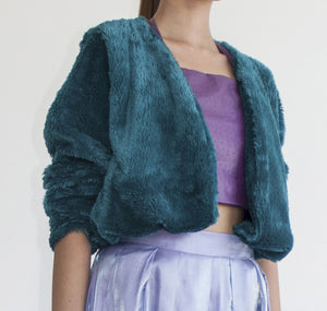 SHOWSTOPPER CROPPED FUR COAT