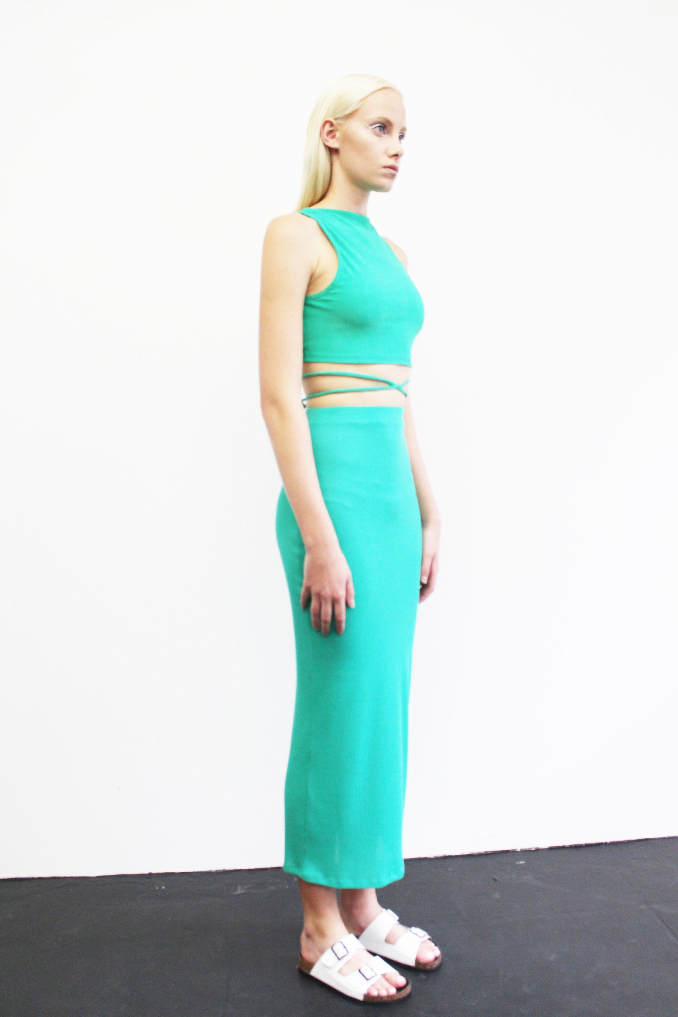 d3dc6bdd293f17 Strappy Crop Top And Skirt