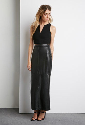 ESTELLA FAUX LEATHER MAXI