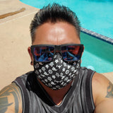 Monogram Black Mask - IslandTribeCo