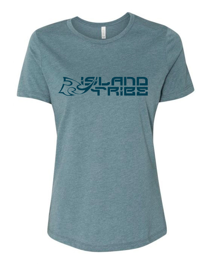 IT Logo Women's Heather Slate Tee - IslandTribeCo