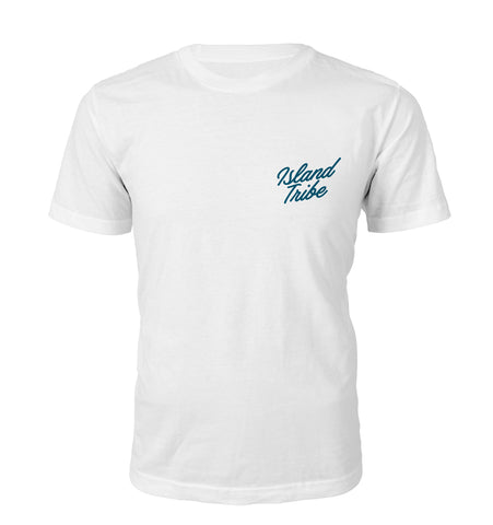 Just Relax Men's White Tee - IslandTribeCo