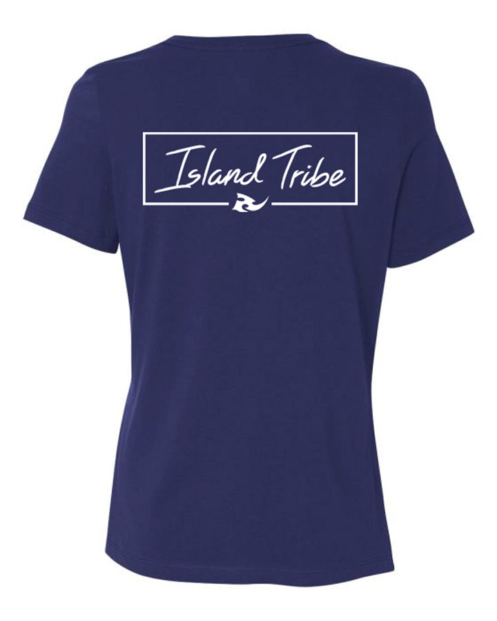 Pacific Women's Navy Tee - IslandTribeCo