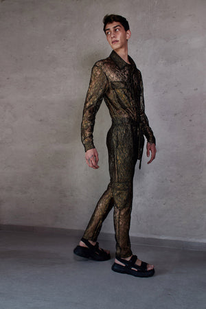 Jumpsuit Golden Lace